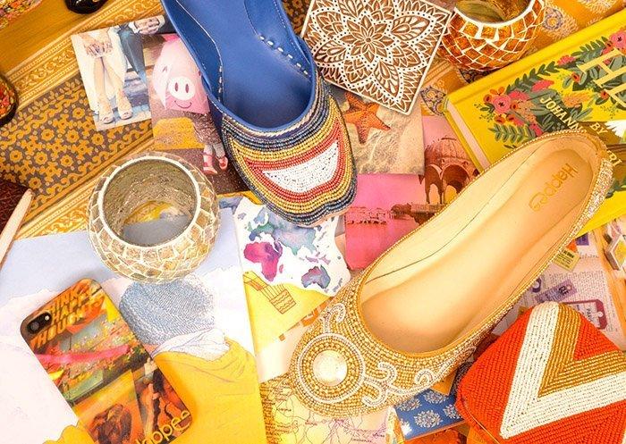 A Happee vende acessórios produzidos na Índia por artesãos locais numa cadeia produtiva justa.