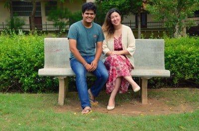 Letícia e Peeyush, brasileira e indiano unidos para trabalhar com propósito social.