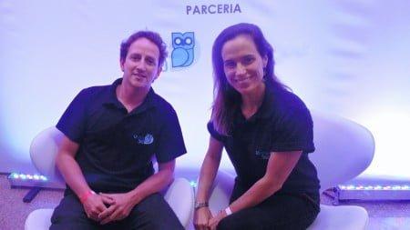 O fundador da UView360 Charles Boggiss e sua sócia, Karina Firme, num evento de seu maior cliente, o Grupo Globo, este ano.