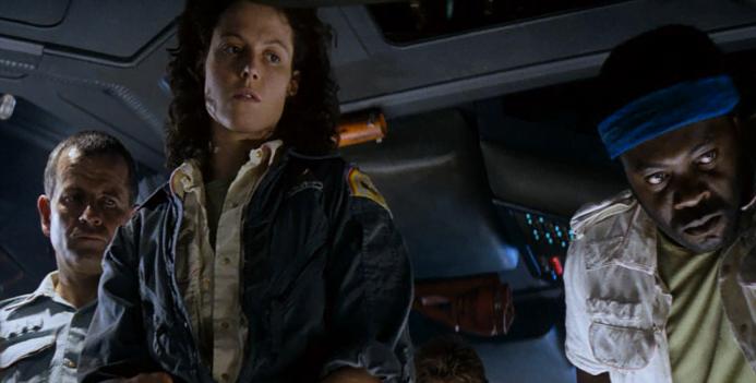 Sigourney Weaver, a Ellen Ripleu de Alien o Oitavo Passageiro, serviu de insight para Aline perceber o poder da mulher.