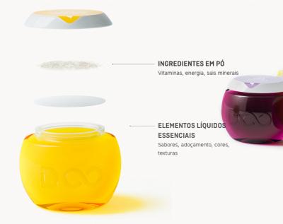 O pod custa 3 reais: é esta cápsula, que depois de aberta é encaixada na garrafa e libera seu conteúdo na água criando, afinal, a bebida.