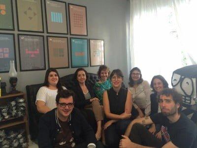 Parte da equipe da DUX, que é grande e fluida, na sede da empresa em São Paulo.