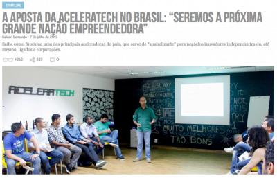 Há um ano, a então Aceleratech foi destaque no Draft (clique na imagem para ler a reportagem).