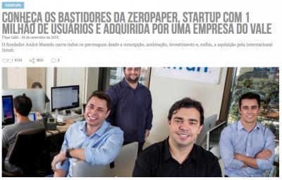 Há um ano, o Draft contou a história da Zeropaper (clique na imagem para ler a reportagem).