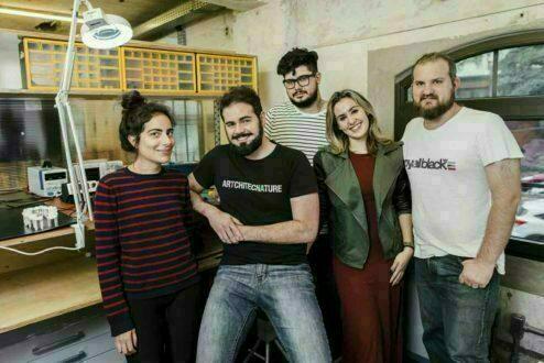 Os residentes do Red Bull Basement: Sara Lane da Costa, Diogo Tolezano, Giovanna Casimiro, Ricardo Coelho e Pedro Godoy. (Faltam Samanta Fluture e Lina Lopes)