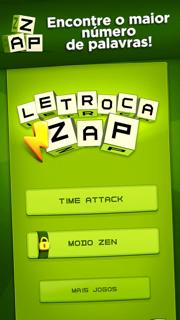 Tela do jogo Letroca, da Fanatee, para iOS.