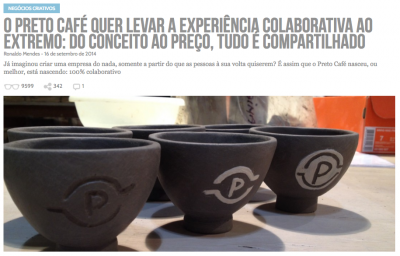 Em setembro de 2014, o Preto Café foi uma das primeiras histórias contadas no Draft (clique na imagem para ler).
