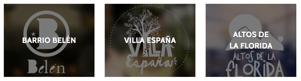 Acima, os logotipos desenvolvidas por algumas das comunidades, com a metodologia criada por Diego e José.