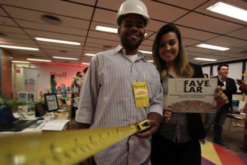 Fábio e Millena, os fundadores da Favelar: a empresa nasceu como projeto de aplicativo, evoluiu, inspirou-se em iniciativas de sucesso e está finalmente operando e começando a crescer.