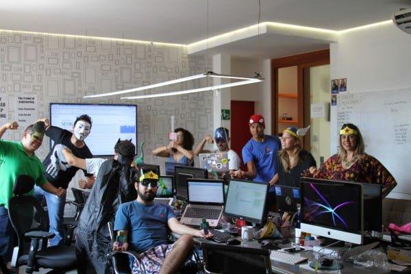 No escritório da empresa, em São Paulo, descontração e uma cultura forte de colaboração entre os funcionários.