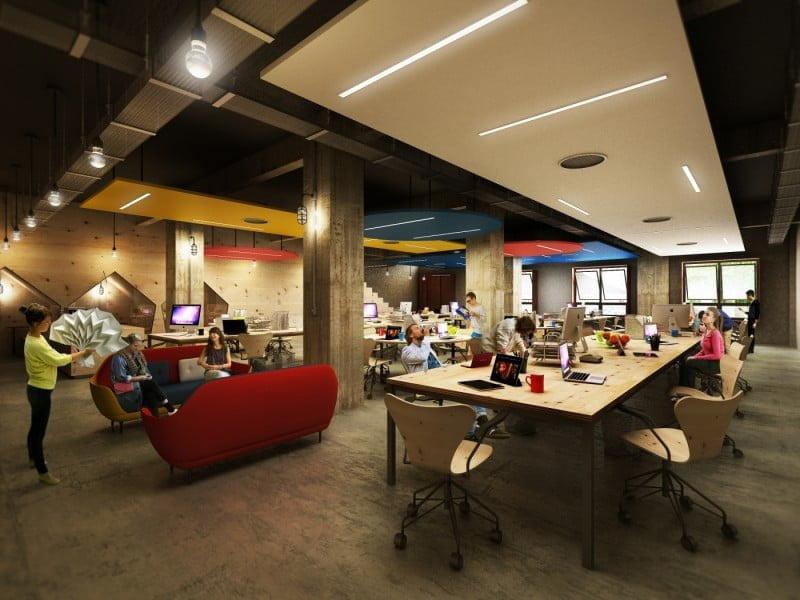 O novo espaço do Impact Hub em São Paulo terá 2 500 m² e 300 estações de trabalho compartilhadas