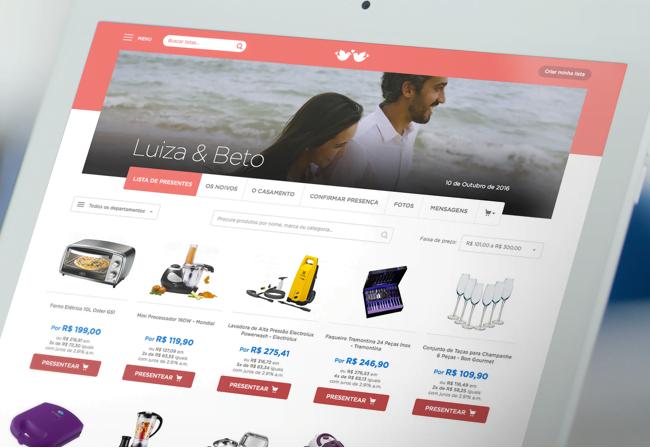 O laboratório de inovação mudou, personalizou e aumentou a adesão das listas de casamento online da marca.