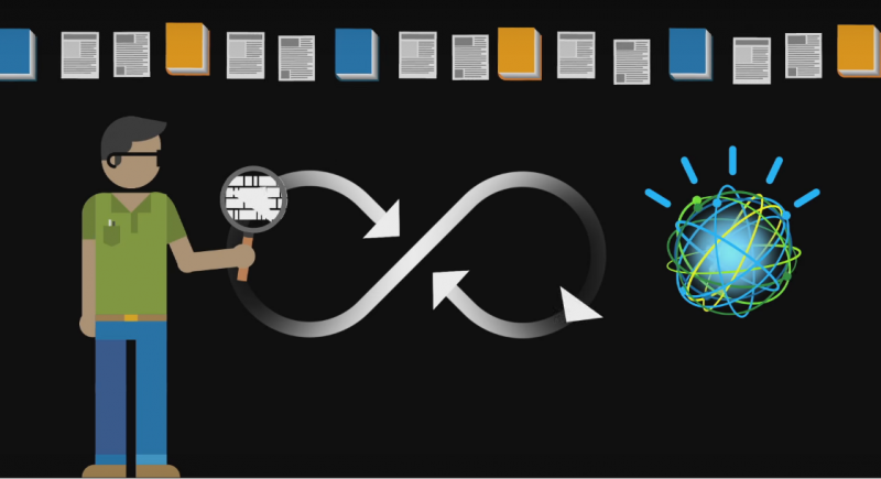 Um vídeo de 7 minutos (clique na imagem para assistir) explica o que é o Watson: a inteligência artificial da IBM.