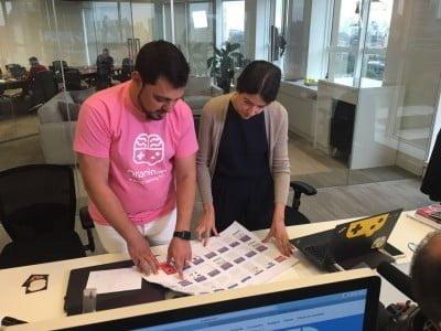 Samir e Ana Luiza Affonso (COO) mostram a plataforma feita para o Bradesco a outros bancos.