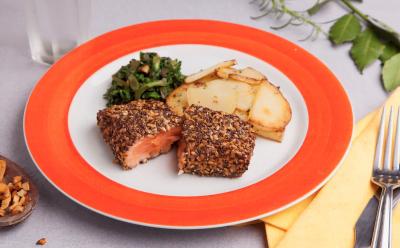 Eles sonhavam estrear com 30 pratos. Mas, depois do susto, começaram com apenas dois: salmão era um deles.
