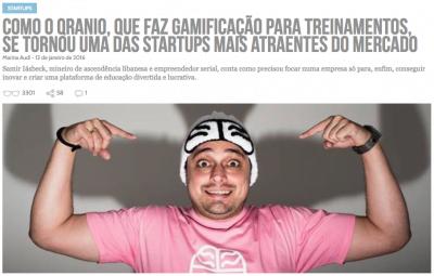 Há um ano, contamos a história da startup (clique na imagem para ler).