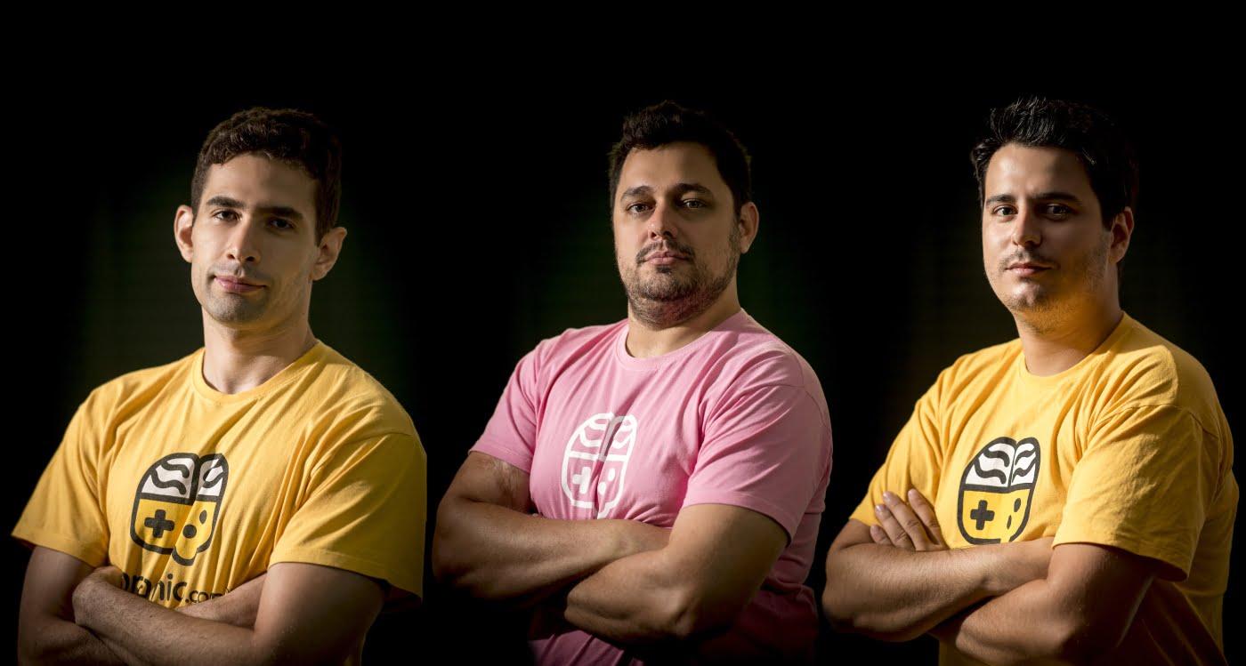 Os fundadores do Qranio: Flávio Augusto, Samir Iásbeck e Gian Menezes (foto: Eric Machado).