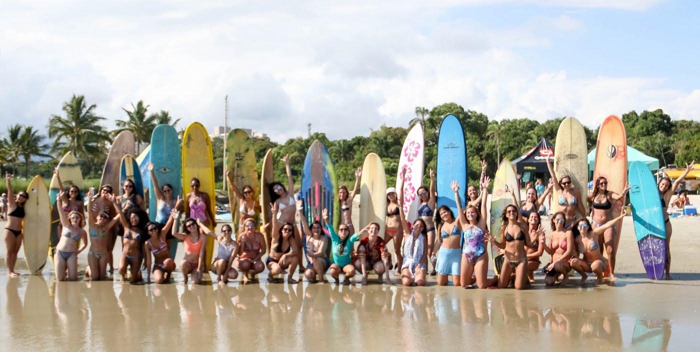 O espírito da empresa é fazer mais mulheres se apaixonarem pelo mar, pelo surf, por si mesmas (foto: Suelen Nobrega).