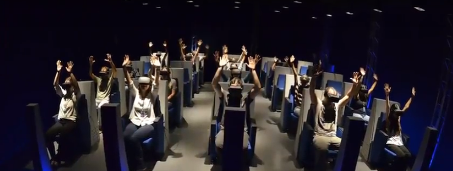 A sala de realidade virtual do Museu CataVento comporta até 20 pessoas (é uma das maiores do mundo).