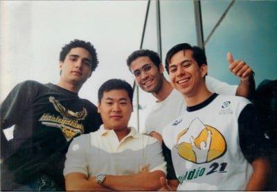 Os fundadores do Buscapé, em 1998: Romero, Takahashi, Rodrigo e Mario.