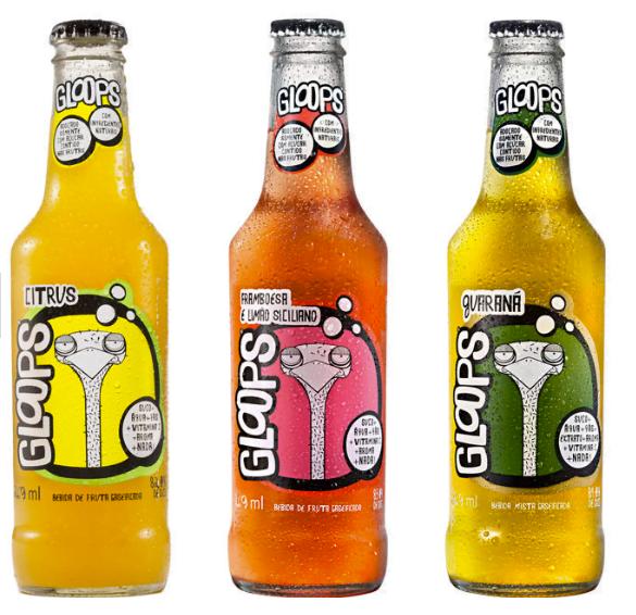 A Gloops tem o desafio de juntar palavras aparentemente antagônicas: refrigerante + saudável.