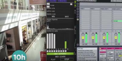 No Iguatemi gaúcho, a Sound Thinkers montou um painel de controle para aferir o nível de ruído do shopping.