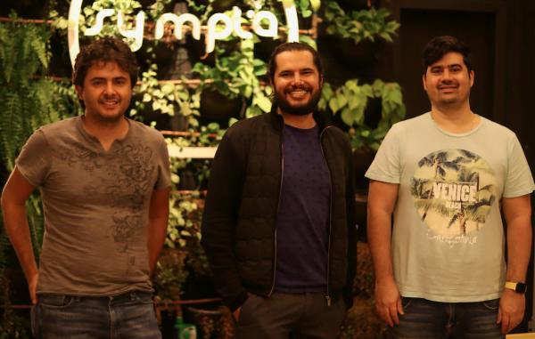Os hoje sócios na Sympla Marcelo Cartacho e David Tomasella eram do BID e chamaram Rodrigo (ao centro) para empreender juntos.