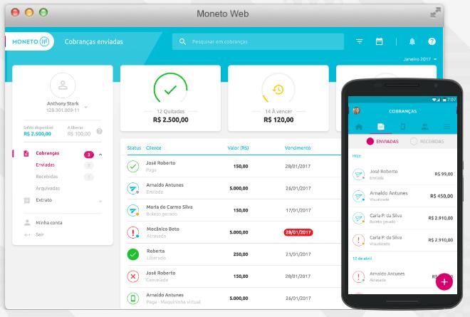 Depois de ser redesenhada, a interface o app Moneto ficou mais simples de usar.