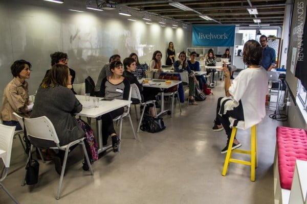 No workshop, empreendedores e startups aprendem os conceitos-chave de Relações Públicas.