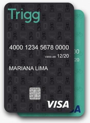 O cartão, que é vertical, vem em cinza ou verde e é 100% gerido via aplicativo.