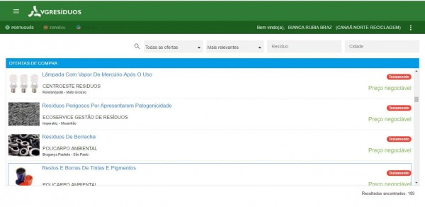foto da tela da plataforma VG: simples e funcional. Ainda assim, encontra resistência, pois algumas empresas relutam em aderir à tecnologia.