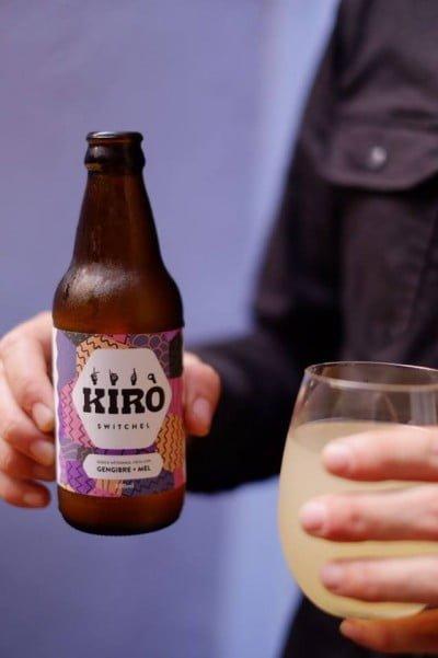O primeiro produto desenvolvido pela Salsada é a Kiro, uma bebida refrescante e sem álcool, com gengibre e mel.