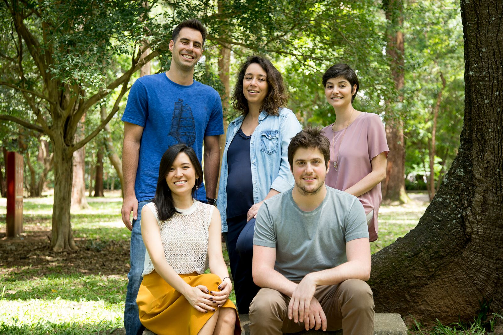 Os sócios da Salsada: em pé Carlos Alberto Martinez, Débora Emm e Lena Mattar. Sentados, Michele Okuhara e Roberto Meirelles.