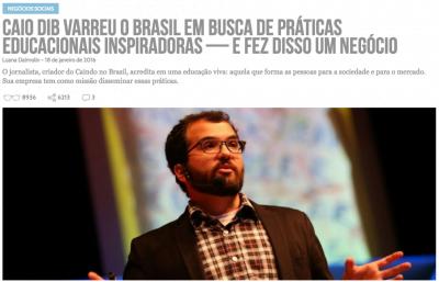 Contamos a história de Caio e do Caindo no Brasil em janeiro de 2016 (clique na foto para ler a reportagem).