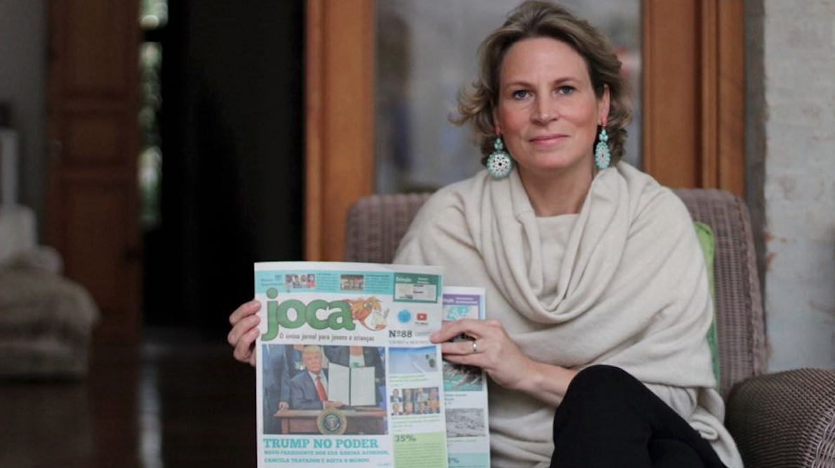 Stéphanie Habrich estava no World Trade Center quando as torres foram derrubadas. A tragédia foi o início de uma mudança em sua vida — que culminou na criação do Joca, um jornal que educa crianças.