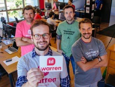 Os sócios do Warren no escritório em Porto Alegre: