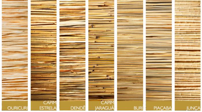 No catálogo da Fellicia, diferentes fibras vegetais dão origem a persianas, todas feitas à mão.