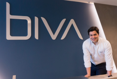 Jorge, fundador da Biva, que investiu em um negócio para facilitar o crédito para donos de pequenas empresas.