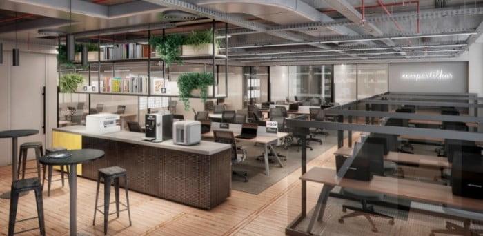 O custo de uma cadeira começa em 800 reais e pode chegar a 5 mil reais por uma sala individual.