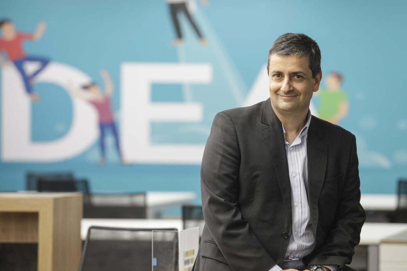 Cláudio Terra, diretor de Inovação e Gestão do Conhecimento do Einstein, na inauguração da incubadora de startups Eretz.bio, este mês (foto: Fabio Mendes).