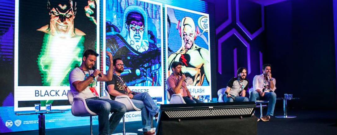 Quadrinistas em um dos painéis da Comic Con Experience, que aconteceu na semana passada em São Paulo.