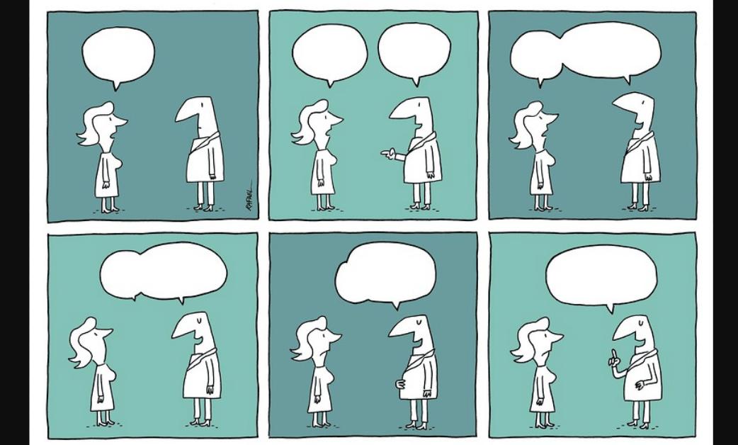 Bropriating é quando um homem rouba a ideia ou argumento de uma mulher e age como se fosse dele (imagem: reprodução internet).