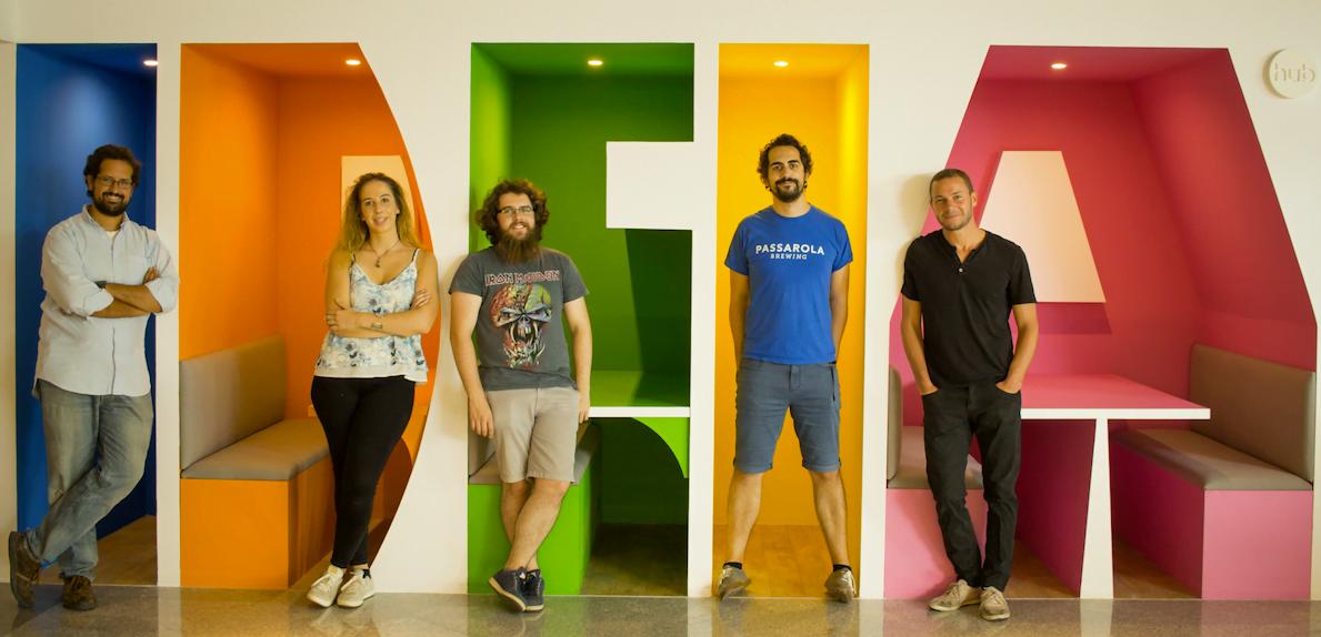 Pedro Queiró, Margarida Coutinho, Ricardo Pimenta , André Pintado e Miguel Queimado, da DreamShaper.