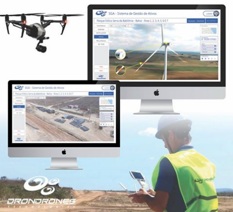 Indústrias de energia eólica ganham eficiência e economia contratando a inspeção feita por drones.