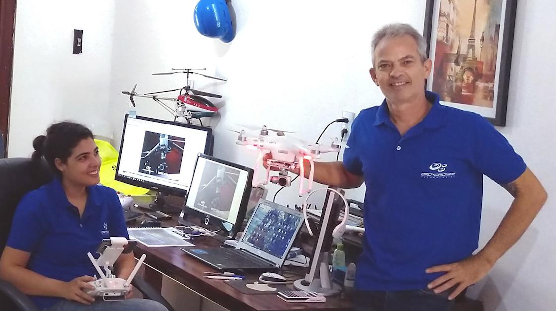 Suyan e Márcio começaram a operação da Dron Drones com apenas um equipamento.