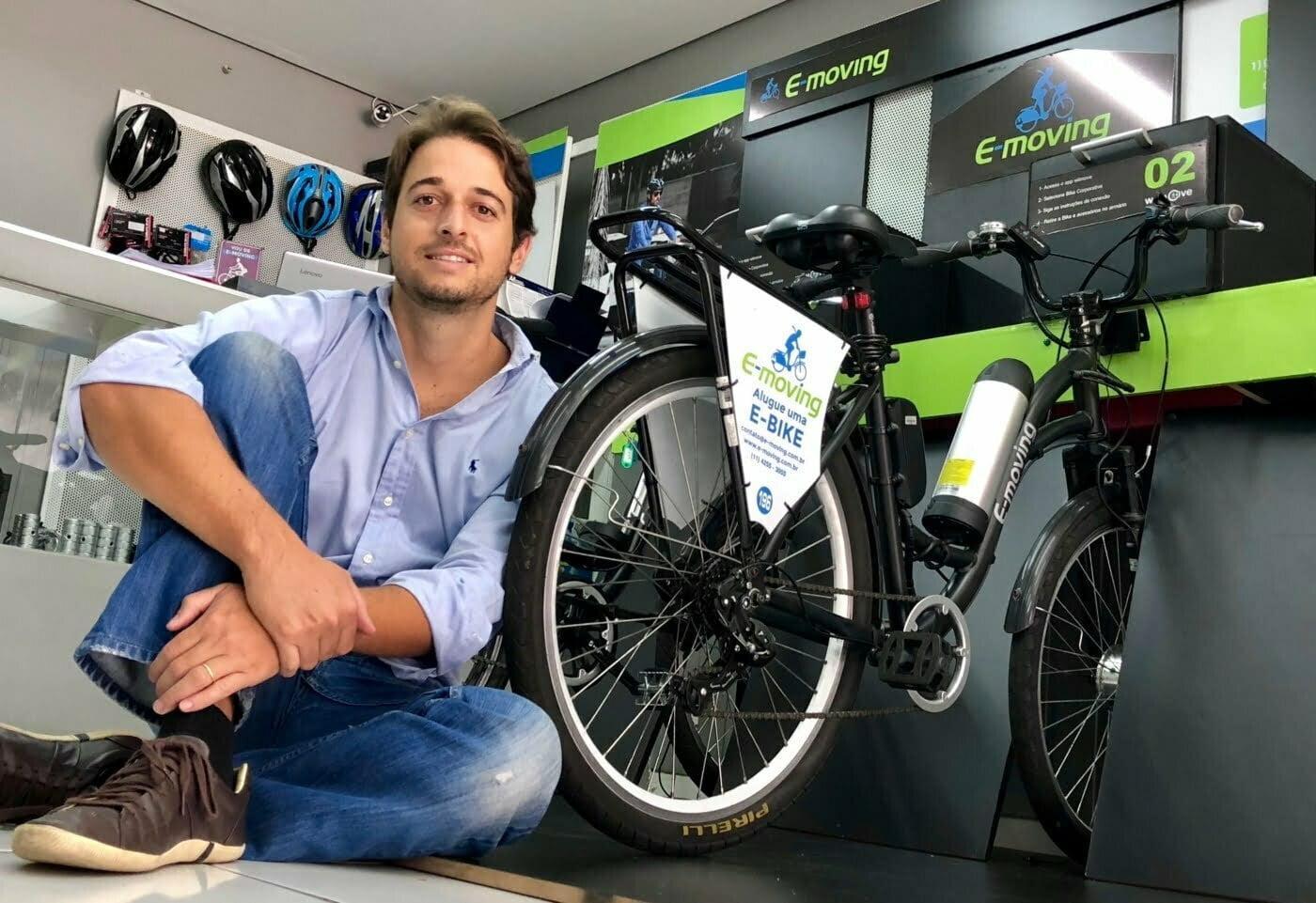 Gabriel Arcon apostou em uma alternativa de mobilidade urbana sustentável para criar a E-moving.