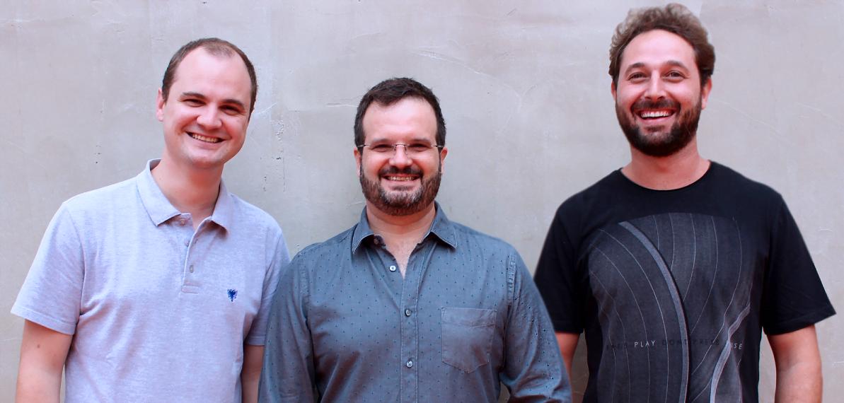 Os sócios da Social Wave Ricardo, Ilan e Bernardo (a partir da direita): em comum, a paixão pela música eletrônica