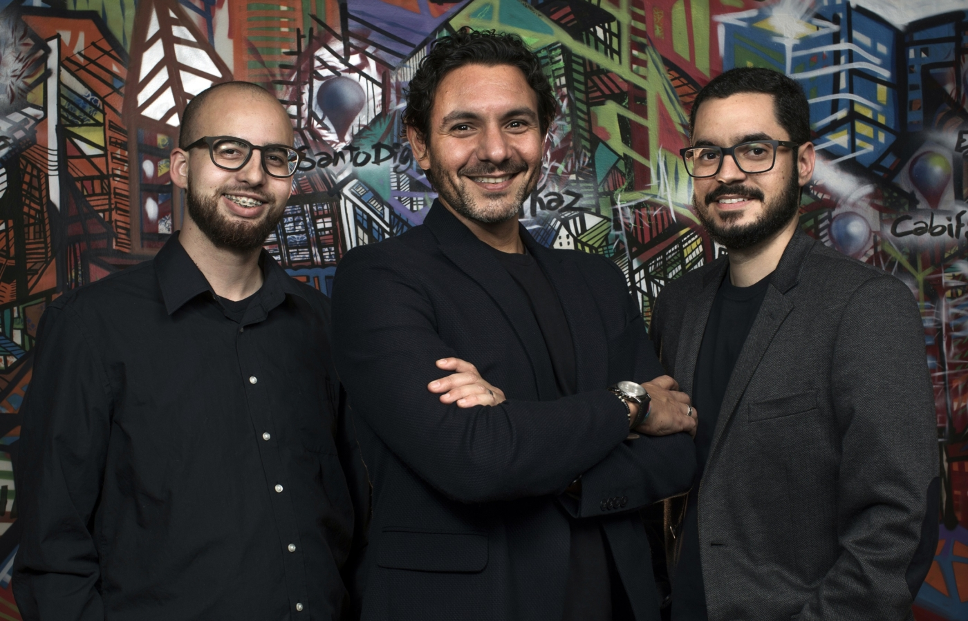 "Israel Lessak, Hilton Menezes e Vitor Perez são os ""kyvers"", como se autodenominam (foto: Rodrigo Paiva)."