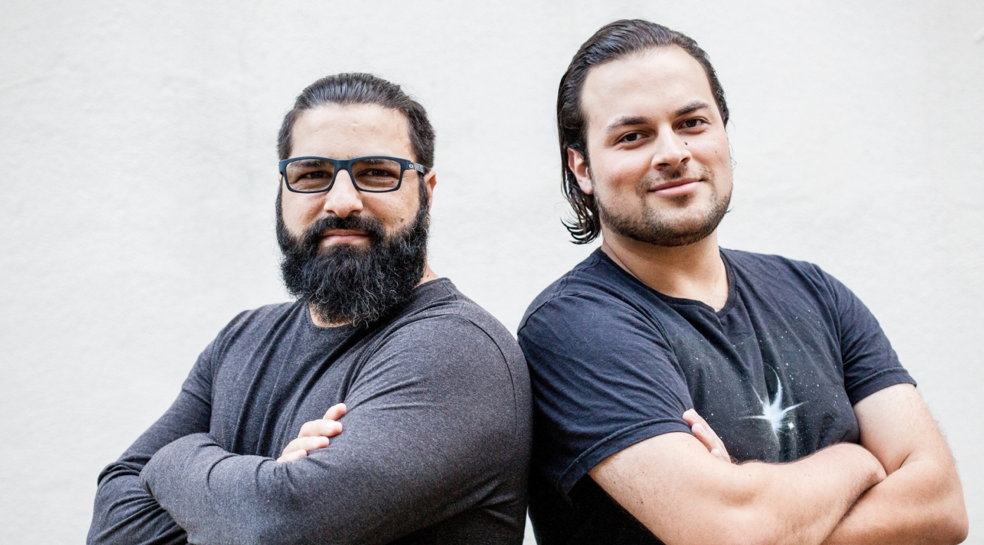 Os fundadores da MedRoom, Sandro e Vinicius, querem que a realidade virtual ajude estudantes a superarem o abismo entre a a teoria e a prática médica (foto: Isabele Araujo).