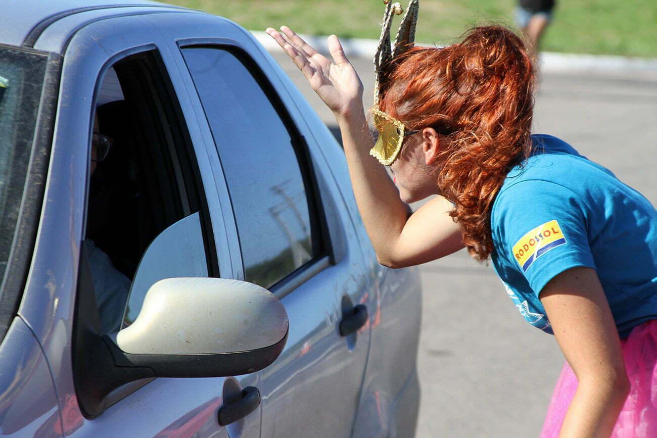 Campanha de segurança e prevenção de acidentes em rodovias promovida pela Atitude Inicial para a Rodosol.